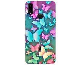 Husa Silicon Soft Upzz Print Compatibila Cu Samsung Galaxy A10s Model Colorfull Butterflies