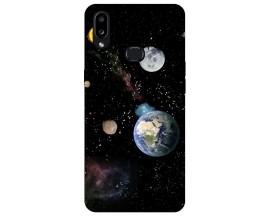 Husa Silicon Soft Upzz Print Compatibila Cu Samsung Galaxy A10s Model Earth