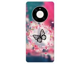 Husa Silicon Soft Upzz Print Compatibila Cu  Huawei Mate 40 Pro Model Butterfly