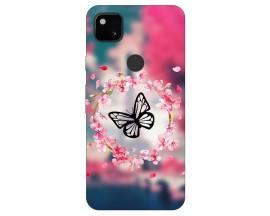 Husa Silicon Soft Upzz Print Compatibila Cu Pixel 4A Model Butterfly