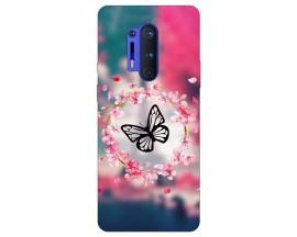 Husa Silicon Soft Upzz Print Compatibila Cu OnePlus 8 Pro Model Butterfly
