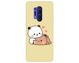 Husa Silicon Soft Upzz Print Compatibila Cu OnePlus 8 Pro Model Teddy