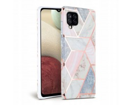 Husa Spate Tech-protect Marble Silicone Samsung Galaxy A12, Roz