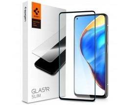 Folie Premium Tempered Glass Spigen Glass Tr Slim iPhone Xiaomi Mi 10T / 10T Pro, Negru Transparenta
