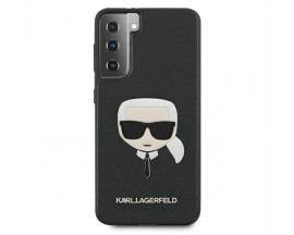Husa Premium Originala Karl Lagerfeld Compatibila Cu Samsung Galaxy S21+ Plus, Colectia Saffiano Karl Head, Negru - 496701