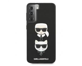 Husa Premium Originala Karl Lagerfeld Compatibila Cu Samsung Galaxy S21, Colectia Saffiano Karl si Choupette, Negru - 496725