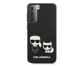 Husa Premium Originala Karl Lagerfeld Compatibila Cu Samsung Galaxy S21+ Plus, Colectia Ikonik Karl si Choupette, Negru - 6794