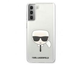Husa Premium Originala Karl Lagerfeld Compatibila Cu Samsung Galaxy S21, Transparenta - KLHCS21SKTR
