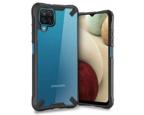 Husa Upzz Tech Rzants Compatibila Cu Samsung Galaxy A12, Negru Anti-Shock