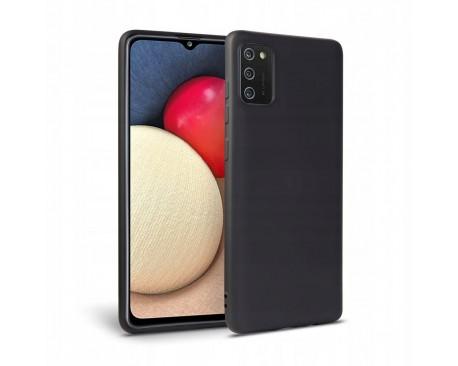 Husa Upzz Tech Icon Compatibila Cu Samsung Galaxy A02s, Invelis Interior Alcantara, Negru