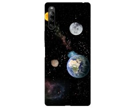 Husa Silicon Soft Upzz Print Compatibila Cu Sony Xperia 10 II Model Earth