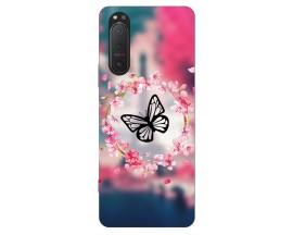 Husa Silicon Soft Upzz Print Compatibila Cu Sony Xperia 5 II Model Butterfly
