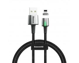 Cablu Premium Baseus Magnetic Zinc Cu Mufa Lightning 1.5A, 2M, Negru - CALXC-B01