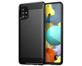 Husa Spate Upzz Carbon Pro Compatibil Cu Samsung Galaxy A72 5g, Silicon, Negru