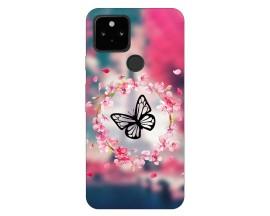 Husa Silicon Soft Upzz Print Compatibila Cu Pixel 5 Model Butterfly