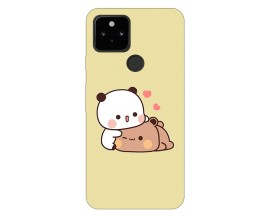 Husa Silicon Soft Upzz Print Compatibila Cu Pixel 5 Model Teddy