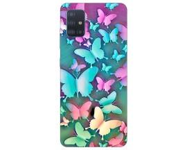 Husa Silicon Soft Upzz Print Compatibila Cu Samsung Galaxy A51 Model Colorfull Butetrflies