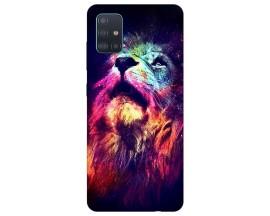 Husa Silicon Soft Upzz Print Compatibila Cu Samsung Galaxy A51 Model Neon Lion
