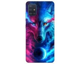 Husa Silicon Soft Upzz Print Compatibila Cu Samsung Galaxy A51 Model Wolf