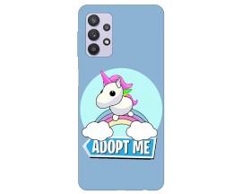 Husa Silicon Soft Upzz Print Compatibila Cu Samsung Galaxy A32 5G Model Pink Unicorn