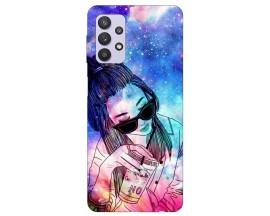 Husa Silicon Soft Upzz Print Compatibila Cu Samsung Galaxy A32 5G Model Universe Girl