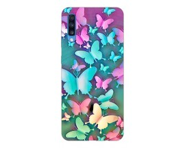 Husa Silicon Soft Upzz Print Compatibila Cu Samsung Galaxy A70 Model Colorfull Butterflies