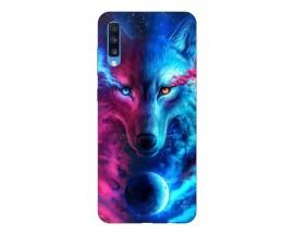 Husa Silicon Soft Upzz Print Compatibila Cu Samsung Galaxy A70 Model Wolf