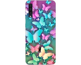 Husa Silicon Soft Upzz Print Compatibila Cu Samsung Galaxy A50 Model Colorfull Butterflies
