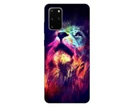 Husa Silicon Soft Upzz Print Compatibila Cu Samsung Galaxy S20 Plus Model Neon Lion