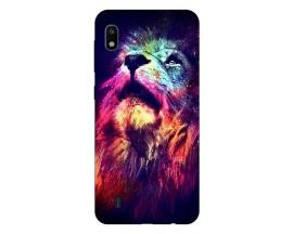 Husa Silicon Soft Upzz Print Compatibila Cu Samsung Galaxy A10 Model Neon Lion