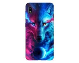 Husa Silicon Soft Upzz Print Compatibila Cu Samsung Galaxy A10 Model Wolf