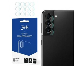 Set 4 X Folie Sticla Nano Glass 3mk Pentru Camera Samsung Galaxy S21+ Plus,  Transparenta