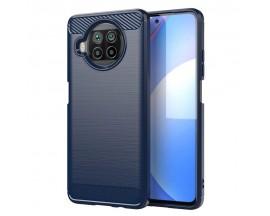 Husa Spate Upzz Carbon Pro Pentru Xiaomi Mi 10T Lite, Silicon, Anti-shock, Albastru