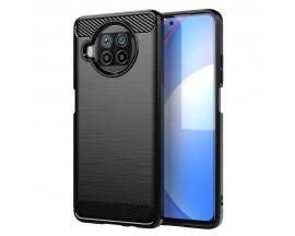 Husa Spate Upzz Carbon Pro Pentru Xiaomi Mi 10T Lite, Silicon, Anti-shock, Negru