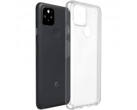 Husa Spate Upzz Slim Case Compatibila Cu Google Pixel 5, Silicon 0.5mm Grosime, Transparenta