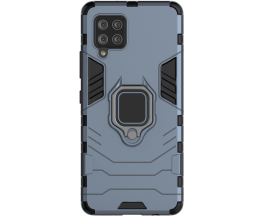 Husa Spate Ring Armor Upzz Compatibila Cu Samsung Galaxy A42 5G, Albastru