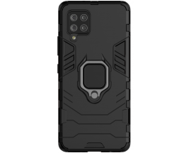 Husa Spate Ring Armor Upzz Compatibila Cu Samsung Galaxy A42 5G, Negru