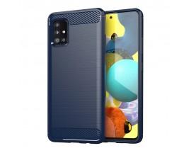 Husa Spate Upzz Carbon Pro Compatibila Cu Samsung Galaxy M51 Albastru