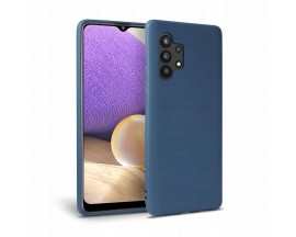 Husa Premium Upzz Liquid Silicon Pentru Samsung Galaxy A32 5G, Cu Invelis Alcantara La Interior , Albastru