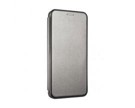Husa Flip Carte Cu Magnet Lux Upzz Compatibila Cu Samsung Galaxy A12, Gri