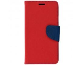 Husa Flip Carte Fancy Book Compatibila Cu Samsung A12, Rosu