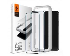 Folie Sticla Securizata Premium Spigen Alm Glass Fc Compatibila Cu iPhone 12 / 12 Pro, 2 Bucati In Pachet - AGL01802