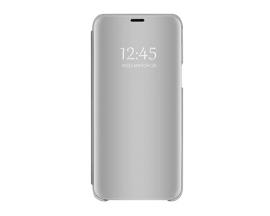 Husa Tip Carte Mirror Samsung Galaxy M31s, Silver Cu Folie Sticla Upzz Glass Inclusa In Pachet