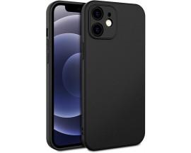 Husa Premium Upzz Soft New Compatibila Cu iPhone 12 Mini, Protectie La Camera, Silicon, Negru