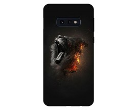 Husa Silicon Soft Upzz Print Compatibila Cu Samsung Galaxy S10e Model Lion