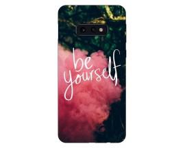 Husa Silicon Soft Upzz Print Compatibila Cu Samsung Galaxy S10e Model Be Yourself