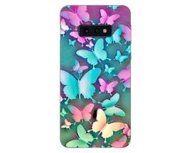 Husa Silicon Soft Upzz Print Compatibila Cu Samsung Galaxy S10e Model Colorfull Butterflies