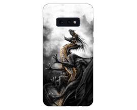 Husa Silicon Soft Upzz Print Compatibila Cu Samsung Galaxy S10e Model Dragon 1