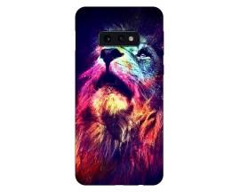 Husa Silicon Soft Upzz Print Compatibila Cu Samsung Galaxy S10e Model Neon Lion