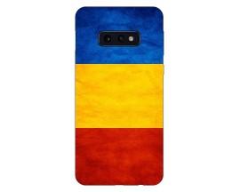 Husa Silicon Soft Upzz Print Compatibila Cu Samsung Galaxy S10e Model Tricolor